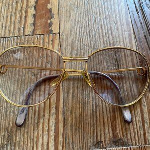 Cartier Vintage Gold Aviator Sunglasses
